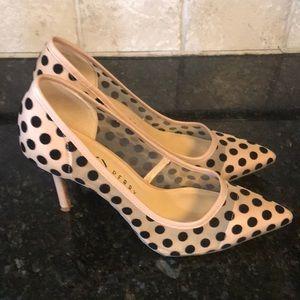 Katy Perry Nude and black polka dot heels 7.5